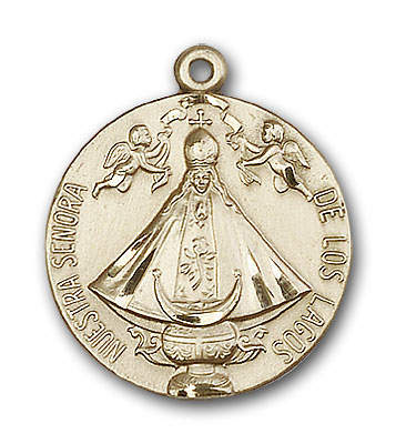 14K Gold Senora de Los Lagos Pendant - Engravable