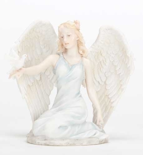 5-inch H Kneeling Angel With Dove
