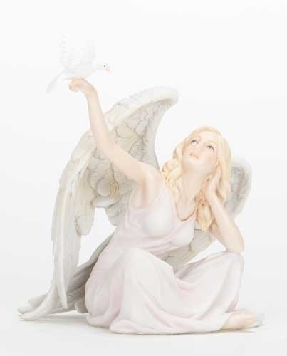 6-inch H Sitting Angel Flying Dove