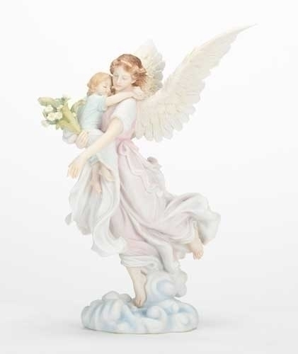 10.75-inch H Angel With Child