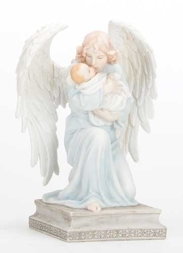7-inch H Kneeling Angel With Baby