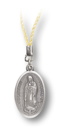 10-Pack - Our Lady Of Guadalupe Medal On Cord