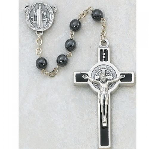 6MM Hematite St. Bendict Rosary