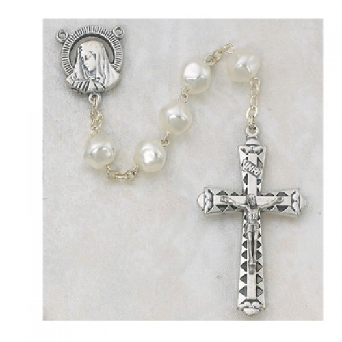 8MM Pearl Rosary