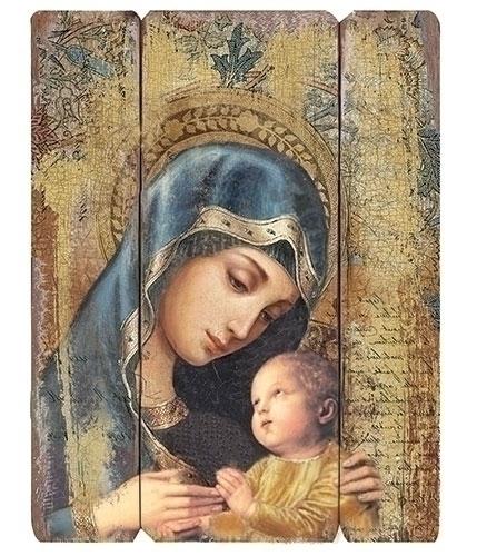 26-inch H Madonna & Child Panel
