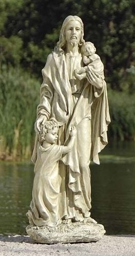 24-inch Jesus With Children Garden