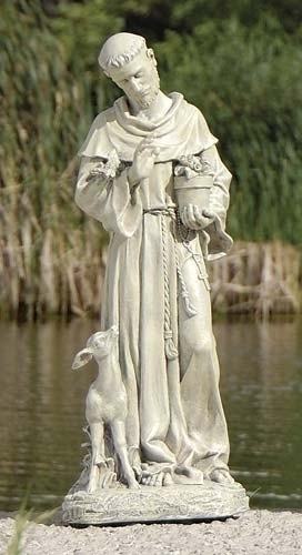 18-inch St. Francis With Fawn Figure