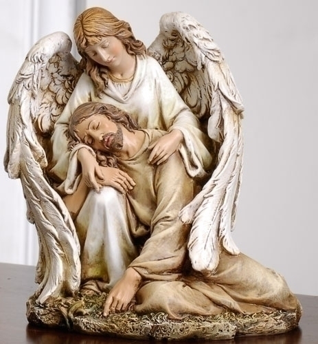 7-inch Angel Comforting Christ Fig