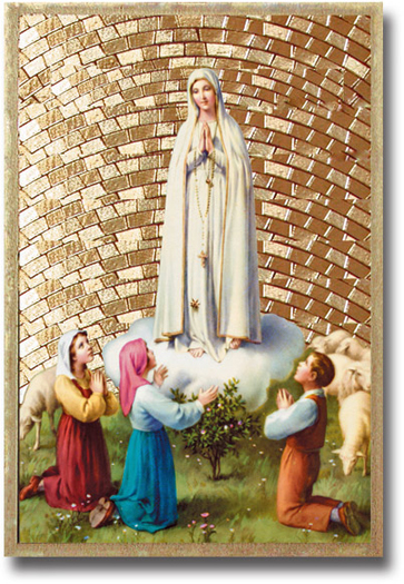Our Lady Of Fatima Mosaic Plaque