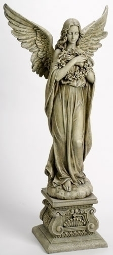 48-inch Angel Holding Wreath Fig