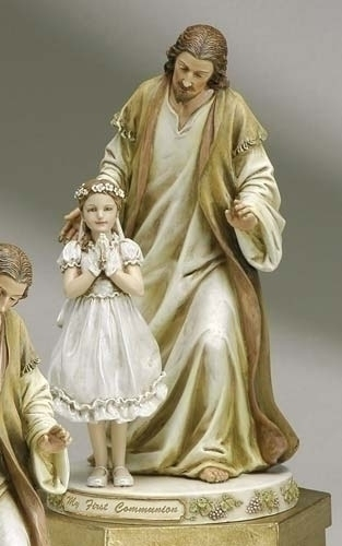 9.5-inch Jesus With Praying Girl Fig