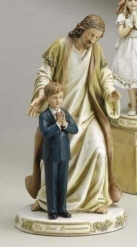 9.5-inch Jesus With Praying Boy Fig