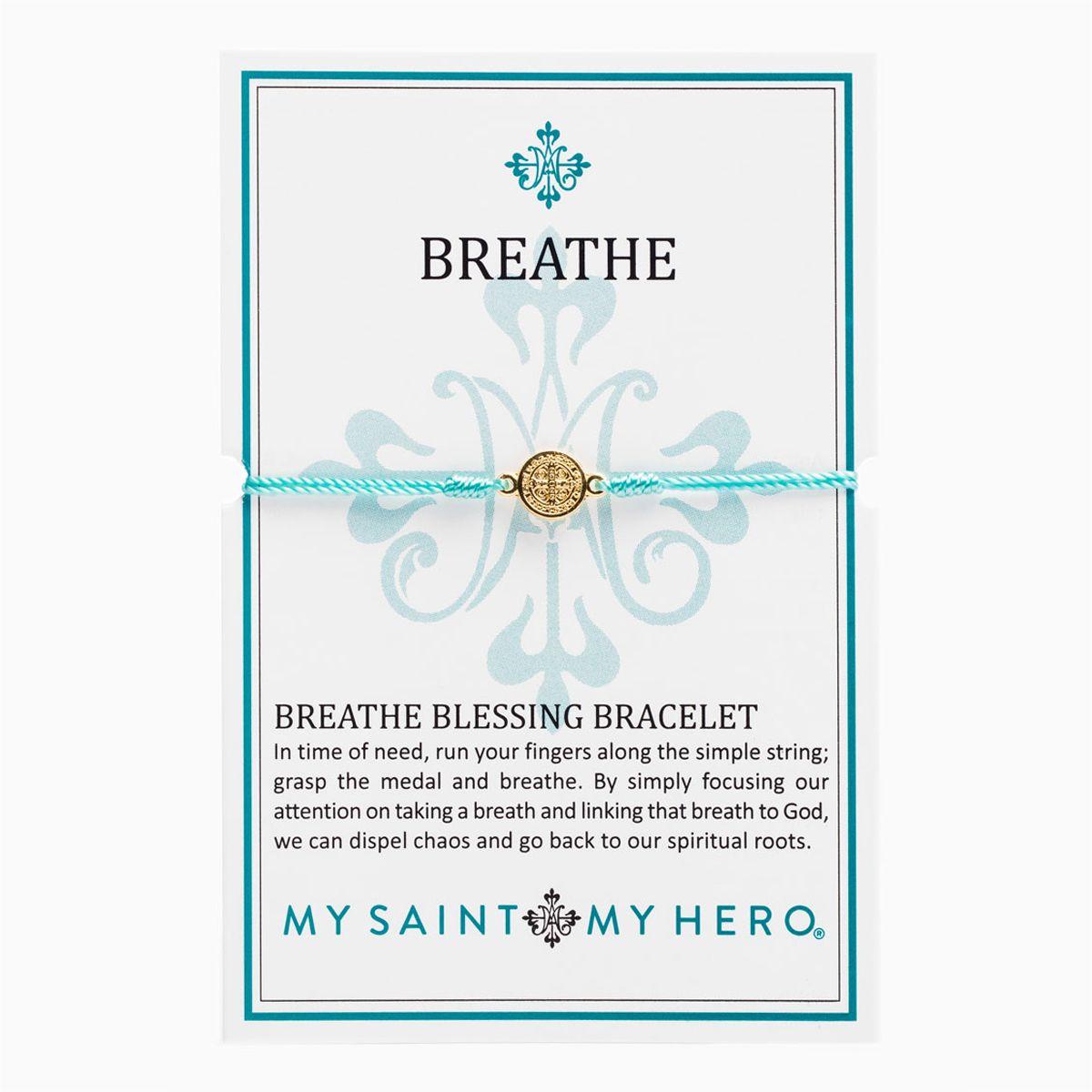 Blessing Bracelets Breathe Mint - Gold Metal