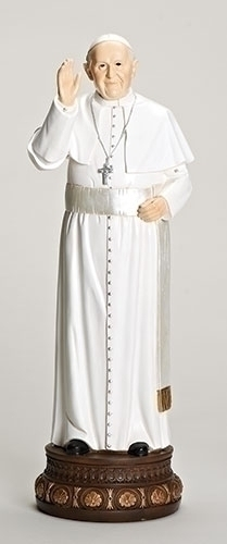 24-inch H Pope Francis Statue