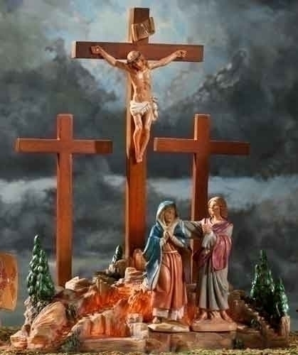 4Pc St13-inch LED Crucifixion Scene