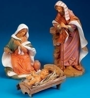 3Pc St 18-inch Holy Family Figs