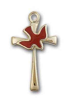 Gold-Filled Cross / Holy Spirit Pendant