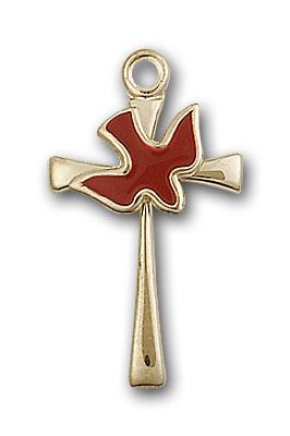 14K Gold Cross / Holy Spirit Pendant