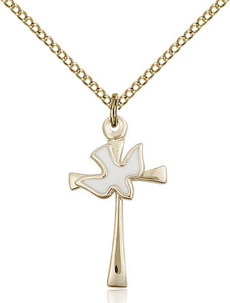 Gold-Filled Cross / Holy Spirit Pendant