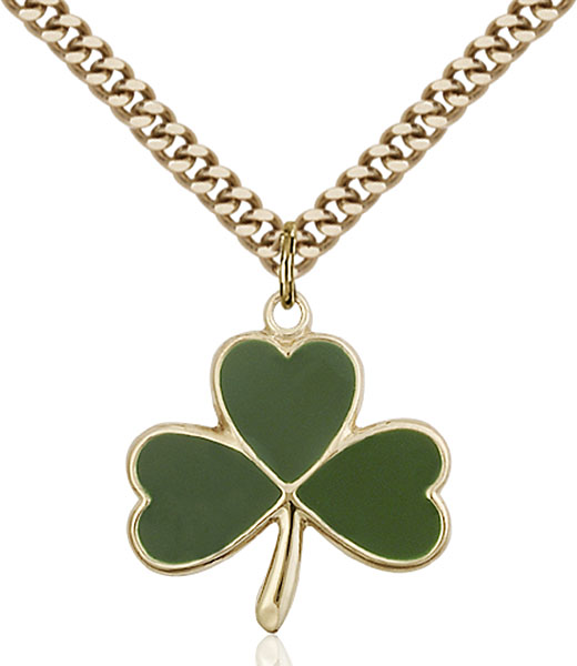 Gold-Filled Shamrock Pendant