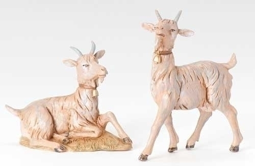 2Pc St 12-inch Goat Figures