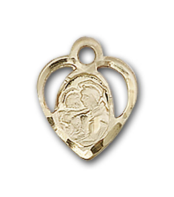 14K Gold St. Anthony of Padua Pendant