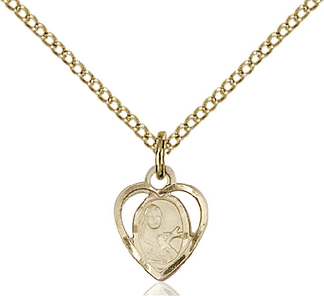 Gold-Filled St. Theresa Pendant