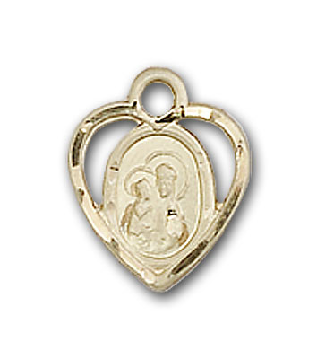 14K Gold Our Lady of Perpetual Health Pendant