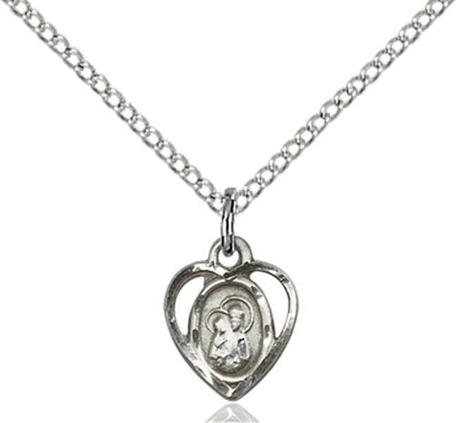 Sterling Silver Our Lady of Perpetual Health Pendant