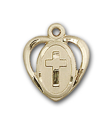 Gold-Filled Heart / Cross Pendant