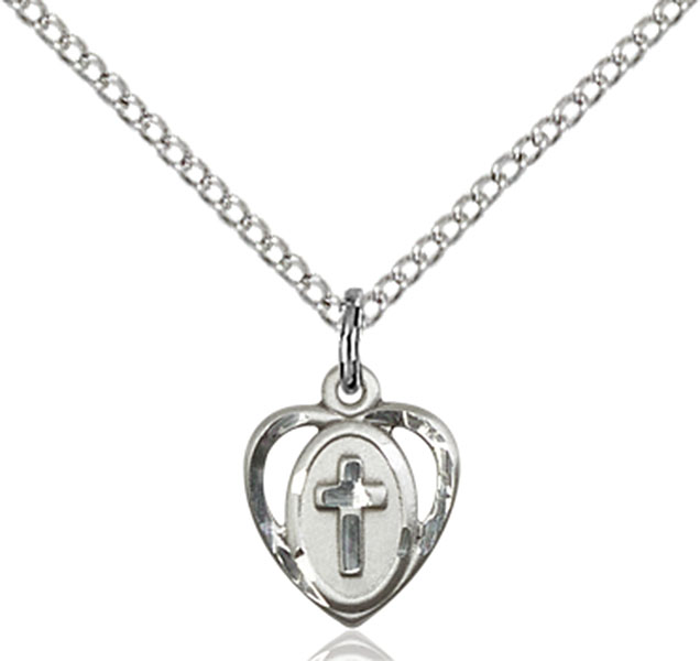 Sterling Silver Heart / Cross Pendant