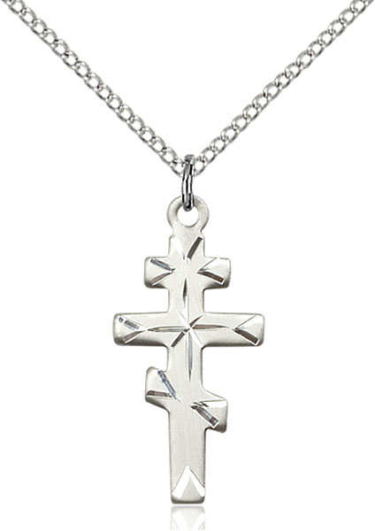 Sterling Silver Greek Orthadox Cross Pendant