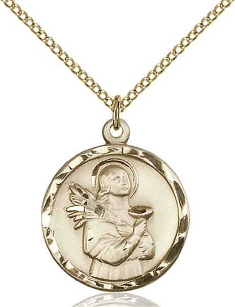 Gold-Filled St. Lucy Pendant