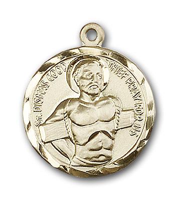 14K Gold Dismas Pendant - Engravable