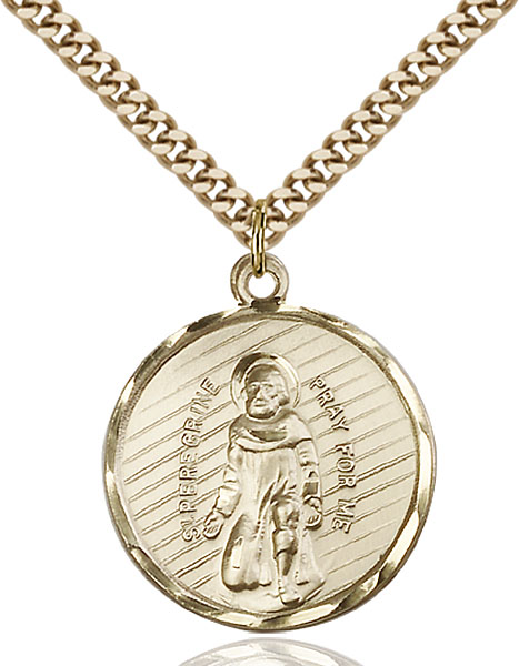 Gold-Filled St. Perregrine Pendant