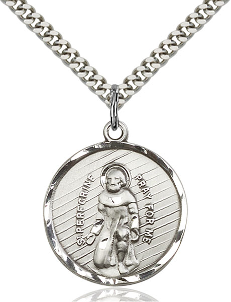 Sterling Silver St. Perregrine Pendant