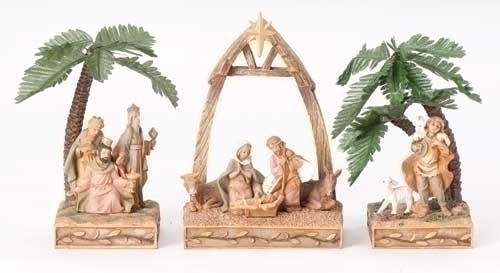 3Pc St 6-inch Nativity Triptych