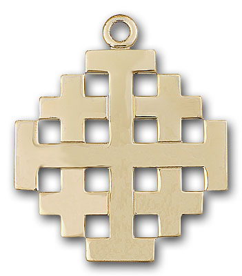 Gold-Filled Jerusalem Cross Pendant