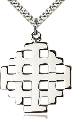 Sterling Silver Jerusalem Cross Pendant
