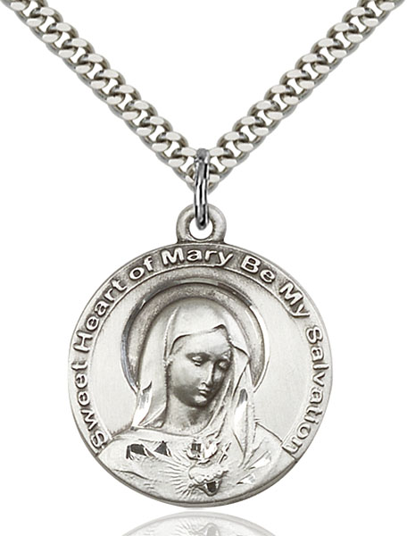 Sterling Silver Mary Pendant