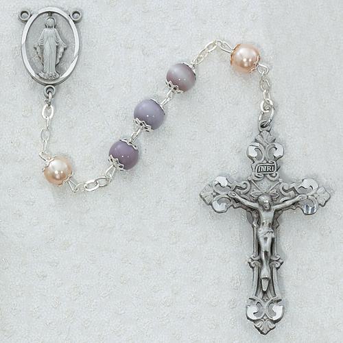 7MM Amethyst/Pearl Rosary