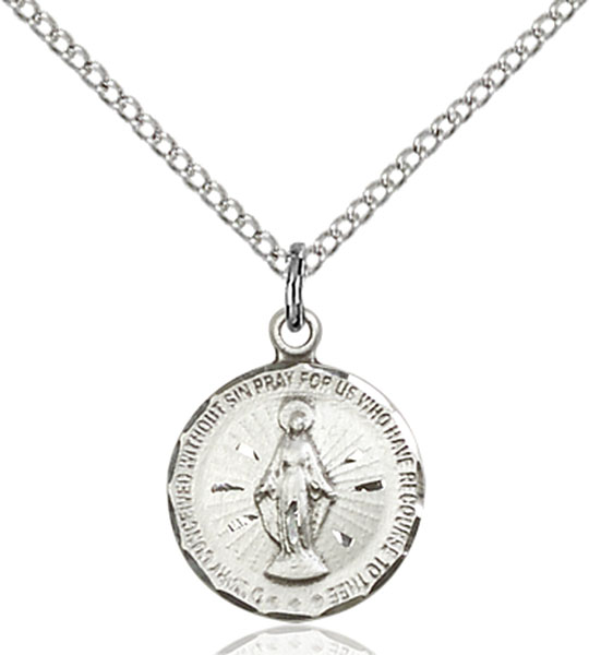 Sterling Silver Miraculous Medal At Catholic Shop
