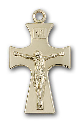 14K Gold Celtic Crucifix Pendant