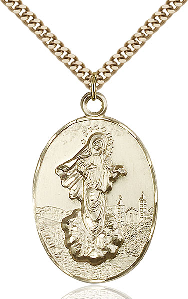 Gold-Filled Our Lady of Medugorje Pendant