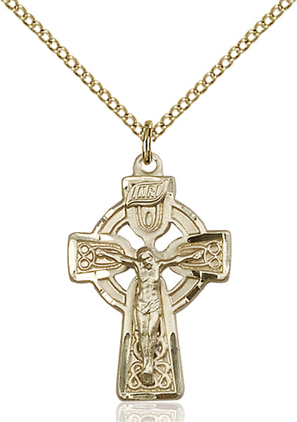 Gold-Filled Celtic Crucifix Pendant