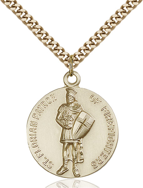 Gold-Filled St. Florain Pendant