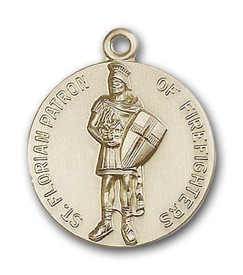 14K Gold St.  Florian Pendant