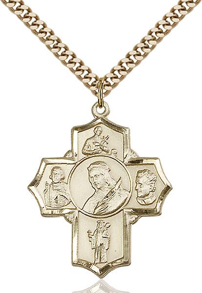 Gold-Filled Philomena/Vian/Bos/Jude/Ger Pendant
