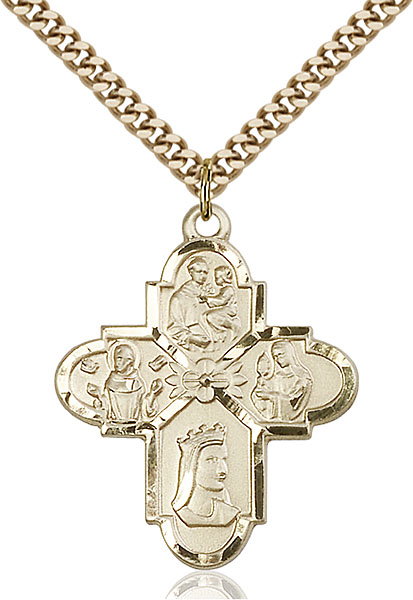 Gold-Filled Franciscan 4-Way Pendant