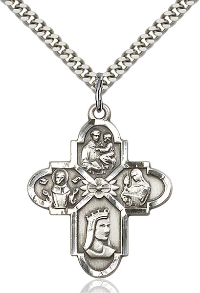 Sterling Silver Franciscan 4-Way Pendant